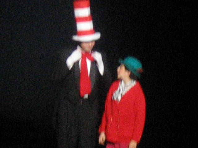 Cat in the Hat (Nolan Buck) and Jojo (Jessica Graves)